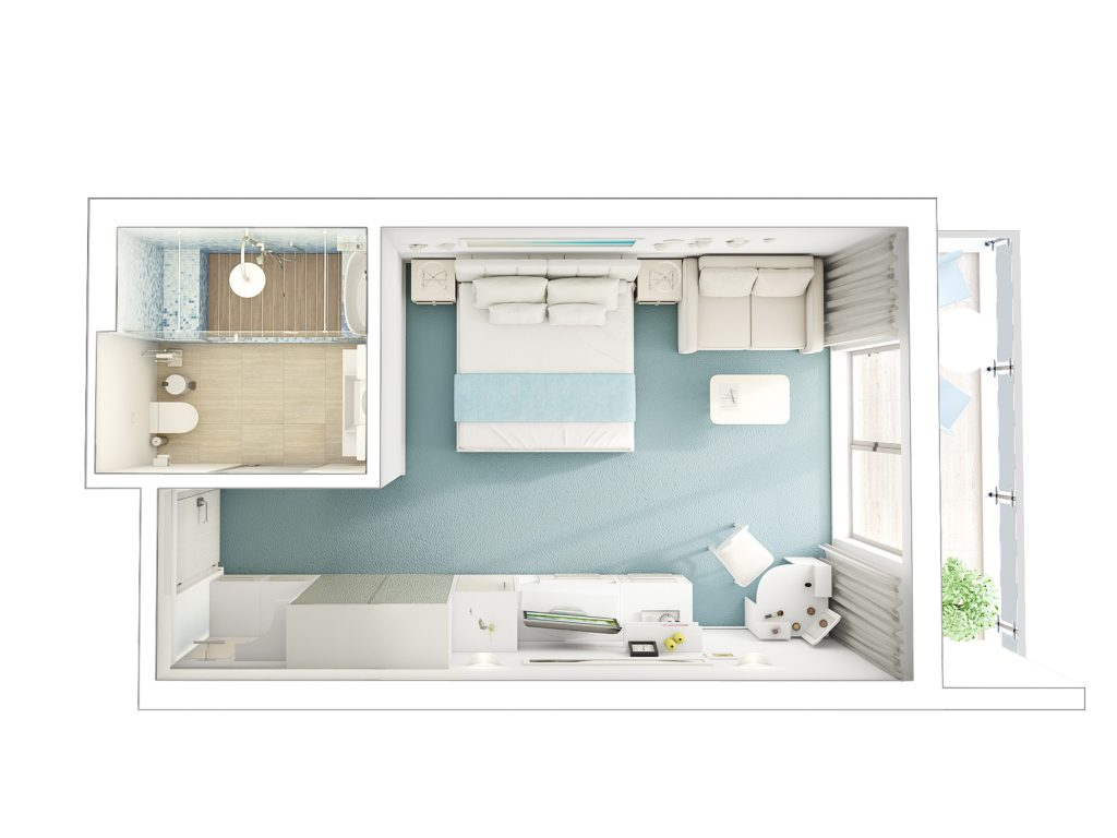Apartamentul Blaxy tip Studio